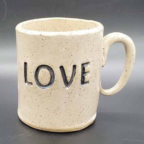 Handmade Ceramic White Love Mug