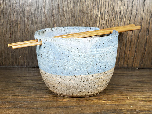 Pre-Order Handmade Ceramic Blue & Beige Ramen Bowl / Rice Bowl