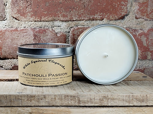 Patchouli Passion Hand-Poured Soy Candle - 7oz