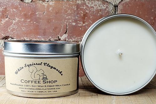 Coffee Shop Hand-Poured Soy Candle - 7oz