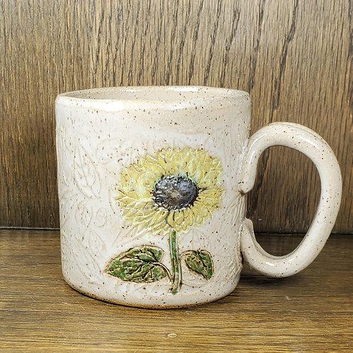 Pre-Order Handmade White Ceramic Sunflower Mug