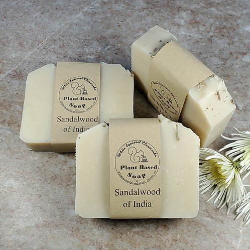 Sandalwood of India Scented All Natural Handmade Soap - 4oz