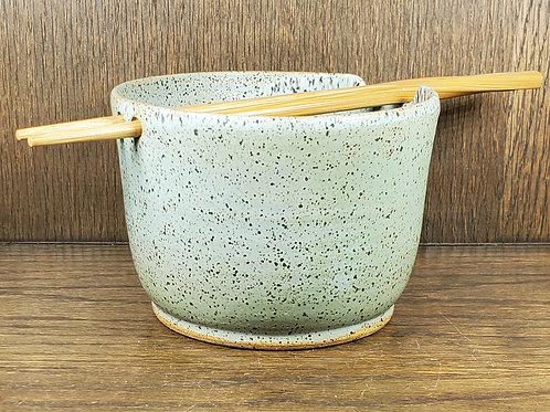 Handmade Ceramic Sea Mist Green Ramen / Rice / Noodle Bowl