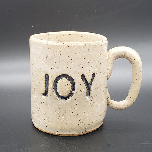 Handmade Ceramic White Joy Mug