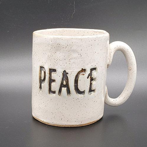 Handmade Ceramic White Peace  Mug