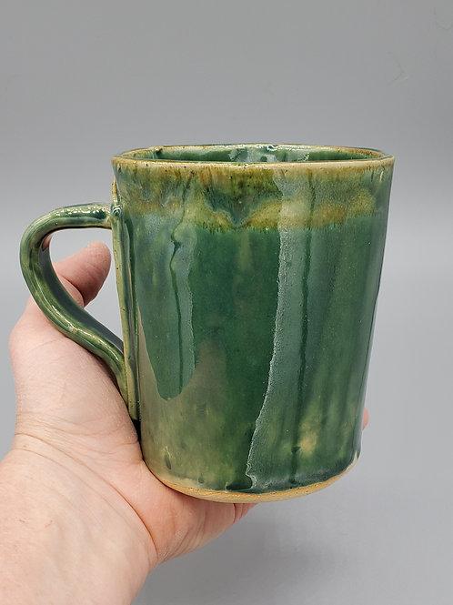 Handmade Ceramic Green Glazed Mug