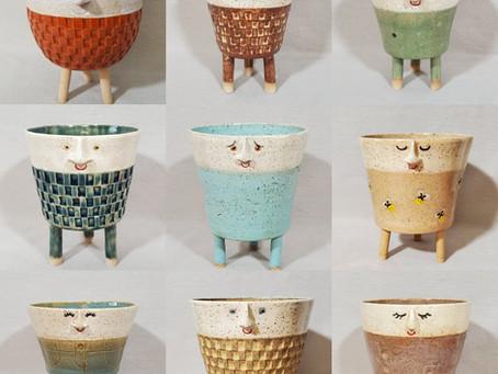 Happy Birthday Face Pots!