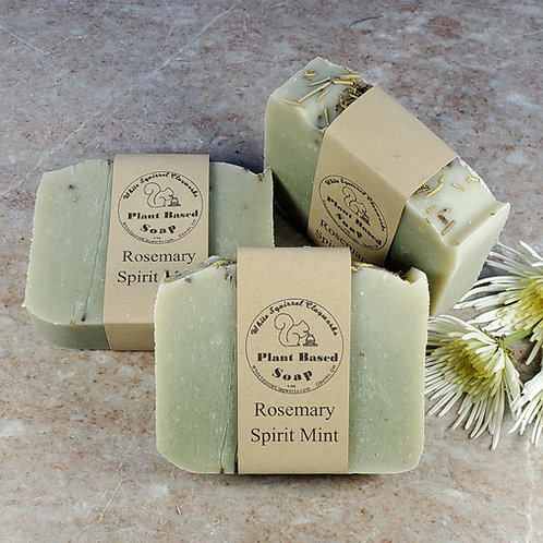 Rosemary Spirit Mint Scented All Natural Handmade Soap - 4oz
