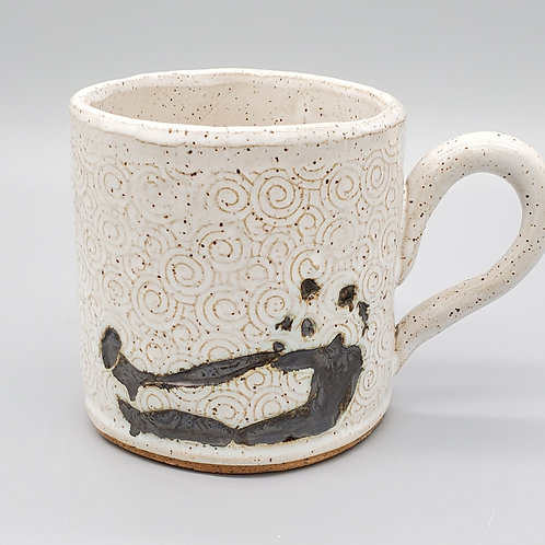 Handmade Ceramic White Mug with a Panda Bear