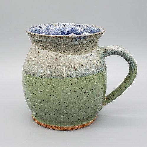 Pre-Order Handmade Green & White Ceramic Mug