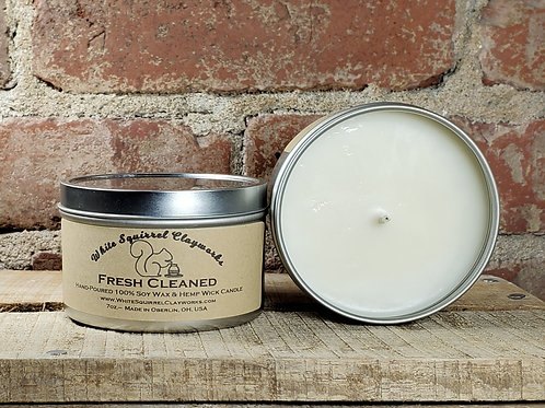 Fresh Cleaned Hand-Poured Soy Candle - 7oz