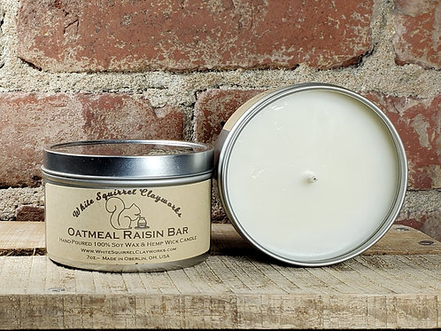 Oatmeal Raisin Bar Hand-Poured Soy Candle - 7oz