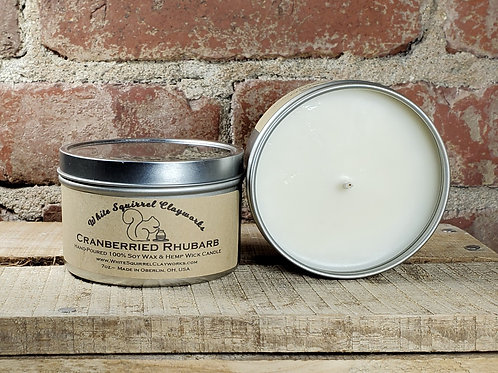 Cranberried Rhubarb Hand-Poured Soy Candle - 7oz