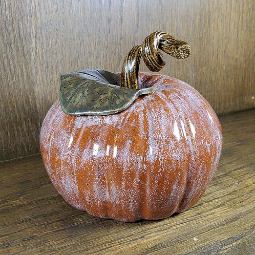 Handmade Ceramic Orange Pumpkin