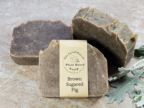 Brown Sugared Fig Scented All Natural Handmade Soap - 4oz