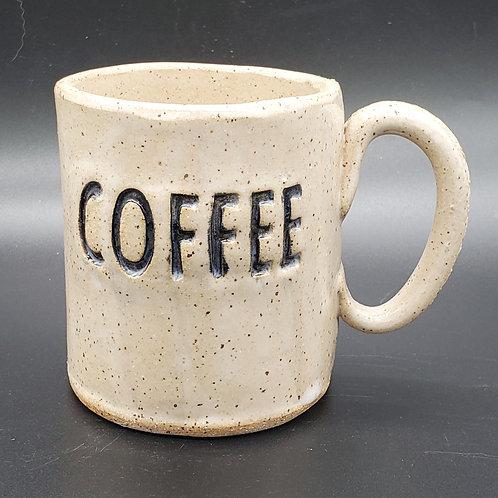 Handmade Ceramic White Coffee Mug