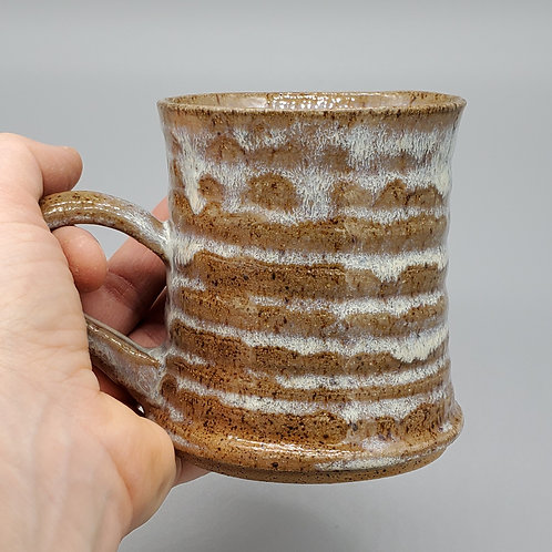 Handmade Ceramic Rippled Honey Mug
