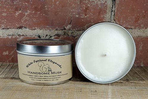 Handsome Musk Hand-Poured Soy Candle - 7oz