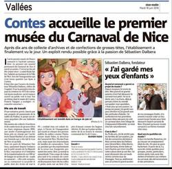 Musée du carnaval Nice matin 18-06-2019