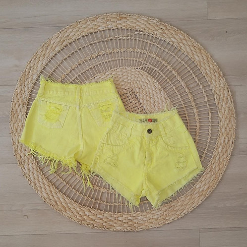 SHORT JEANS S/ LYCRA NEON COLOR