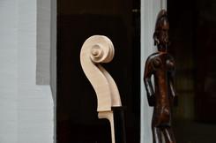 Cello scroll