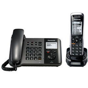 Panasonic KX-TGP550 Cordless SIP Telephone in orange County