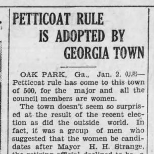 Petticoat Rule - 1934