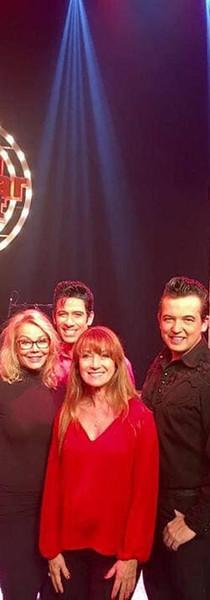 Cast of Million Dollar Quartet with Jane Seymour