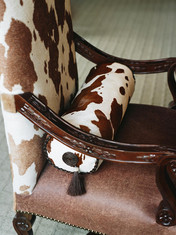 How about leather with a faux hide!