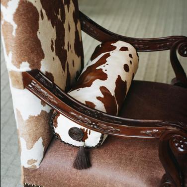 Bacarella Fabrics, Animal Print Armchair Cover & Pillow
