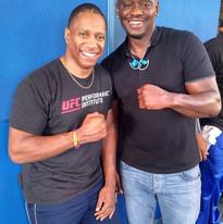 Dwight with Pro Boxer Antonio Tarver