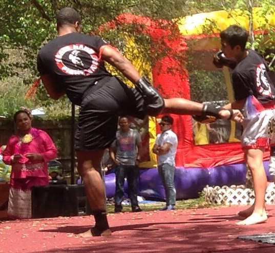 Dwight | Muay Thai Demonstration at a Thai New Year Celebration