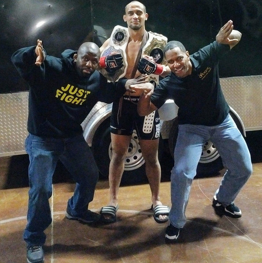 Dwight & Jarrent with 2 Weight Division Champion Jae McIntosh