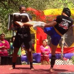 Dwight & Cha | Muay Thai Demonstration at a Thai New Year Celebration