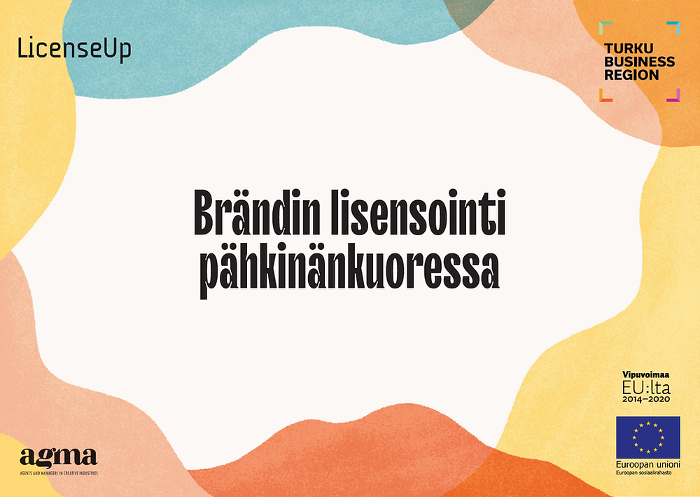 Brändin lisensointi pähkinänkuoressa -esityksen kansilehti