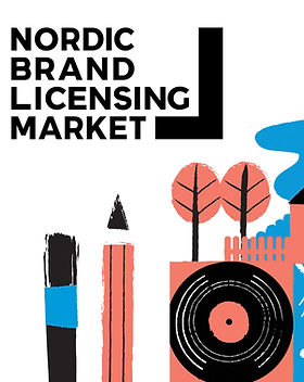 Nordic Brand Licensing Market logo piirroskuvataustalla