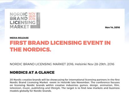 Nordic Brand Licensing Market media release, Nov 14th | Mediatiedote 14.11.