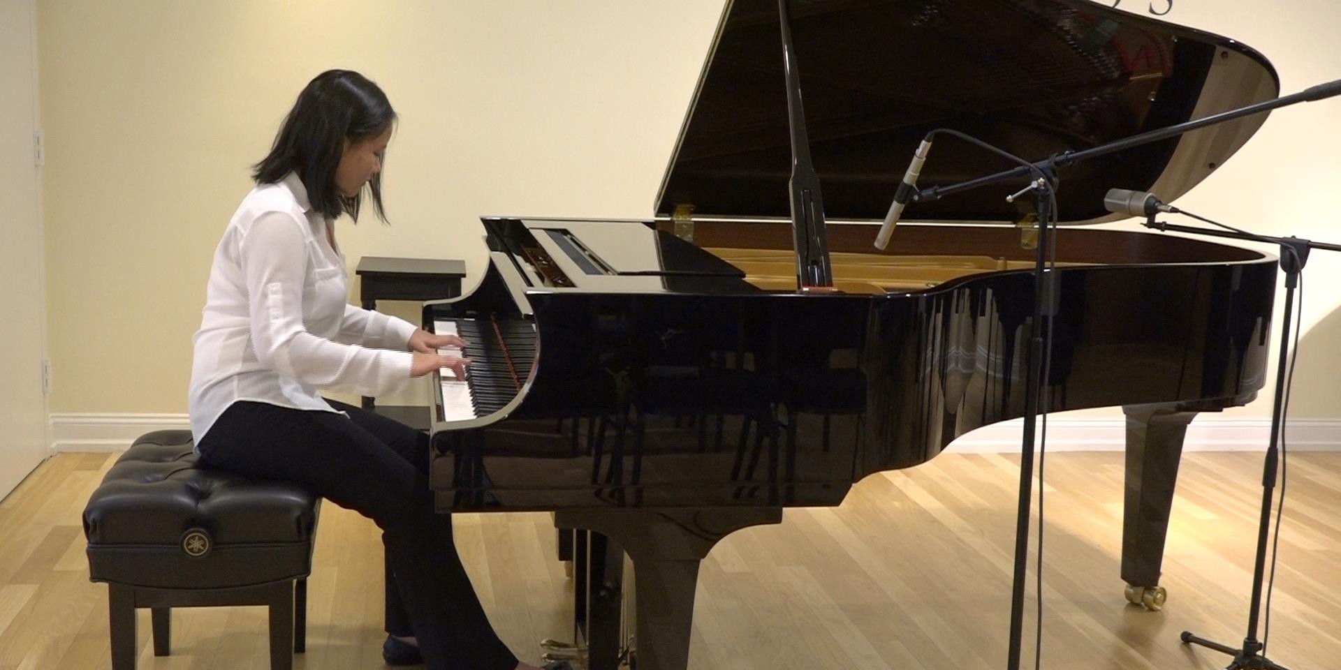 Jessica plays Bober at Faust Harrison Pianos