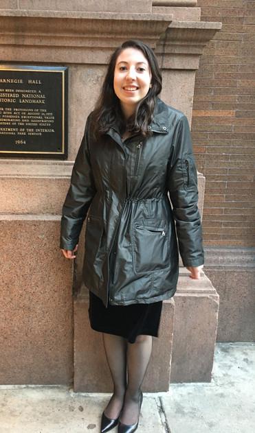 Arielle Belluck at Carnegie Hall