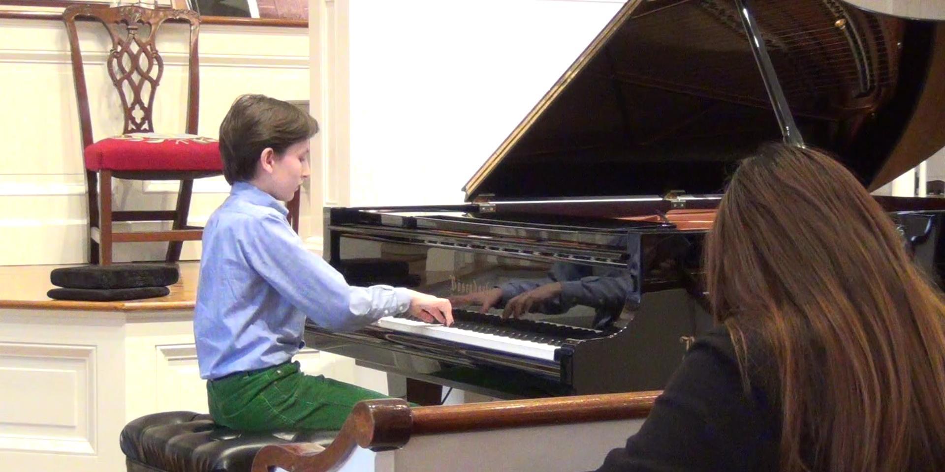 Alexander plays Beethoven at First Congregational Church, Darien