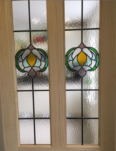 Stained Glass Internal Door Clear Pine