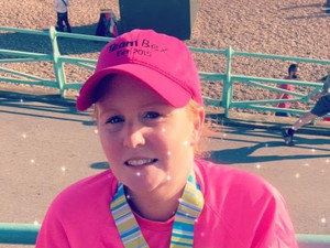 Sam completes the  Brighton Marathon Each Year