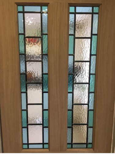 Stained Glass Internal Door Oak