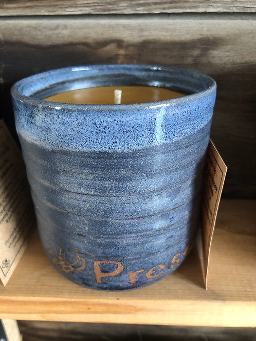 Bee Present Beeswax Candle