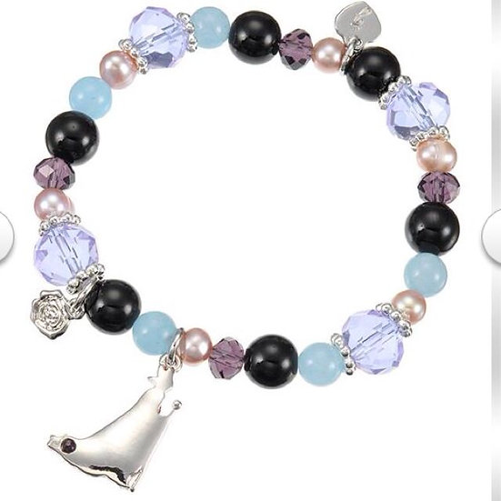 Natural Stone Series : Maleficent black/ purple/blue - power and strong bracelet