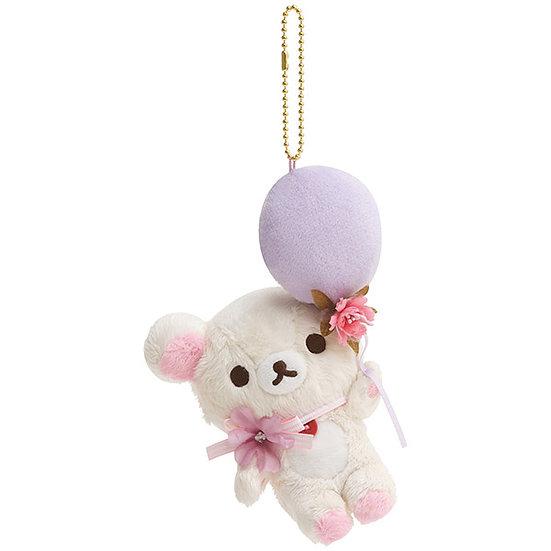 Plushie Keychain Collection -  ( Rilakkuma )Korilakkuma Flower Balloon Plushie
