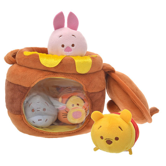 DISNEY TSUM TSUM DECORATION Hunny Pot Winnie the Pooh & Friend Edition Tsum Tsum