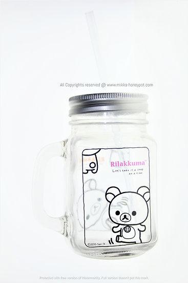 Mug Collection Homeware- San-X Rilakkuma Sippers Glass Mug