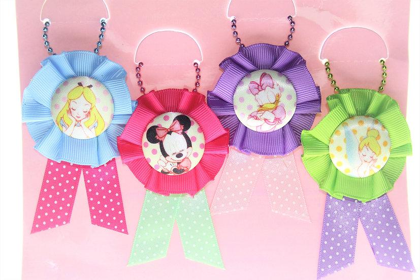 Ball Ring Keychain Set - Tokyo Disneyland Color Ribbon Disney Badge