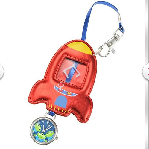 Watch Collection : Toy story : alien in the rocket spaceship bag cling watch